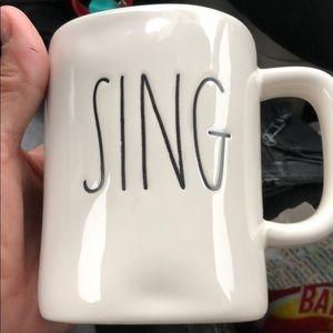 New Rae Dunn sing mug new priced to sell